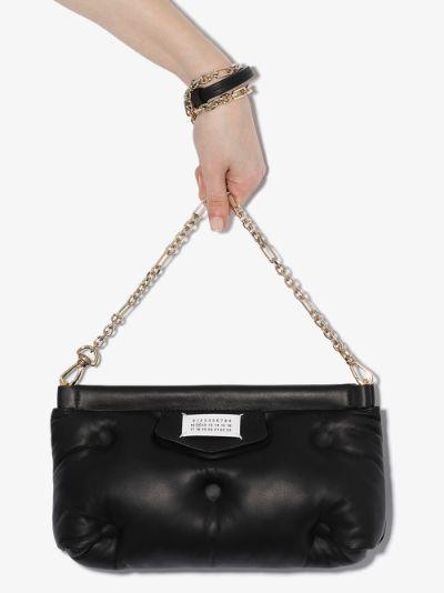 Black Glam Slam leather shoulder bag