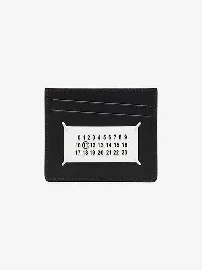 black Paint Splatter leather card holder