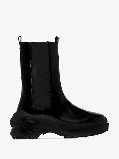 black retro fit combat boots