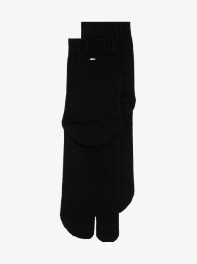 black Tabi cotton socks