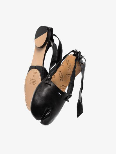 black Tabi leather pumps