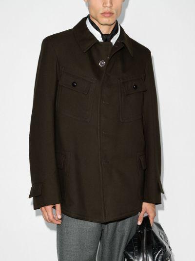boxy wool-blend jacket