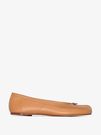 brown Tabi leather ballet pumps