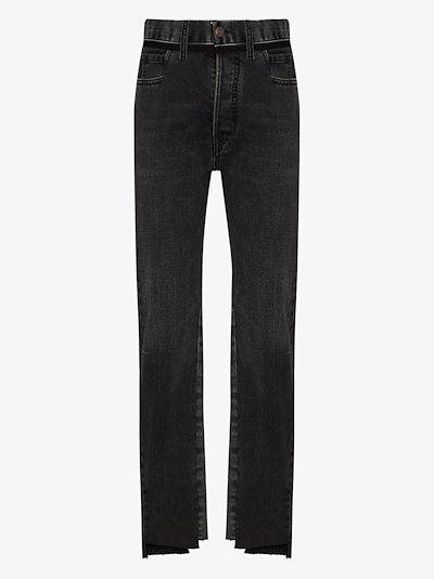 contrast panel jeans