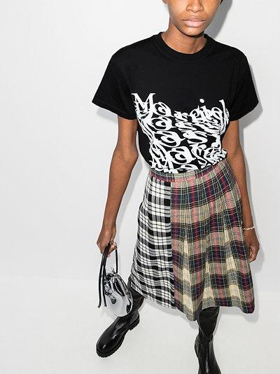 distorted-logo T-shirt