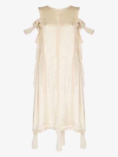 distressed panel midi dress