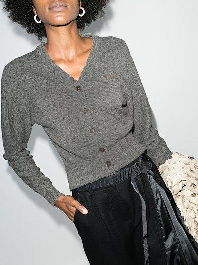 distressed wool cardigan