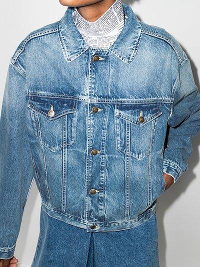 drop-shoulder denim jacket