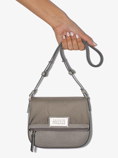 grey 5AC mini leather bag