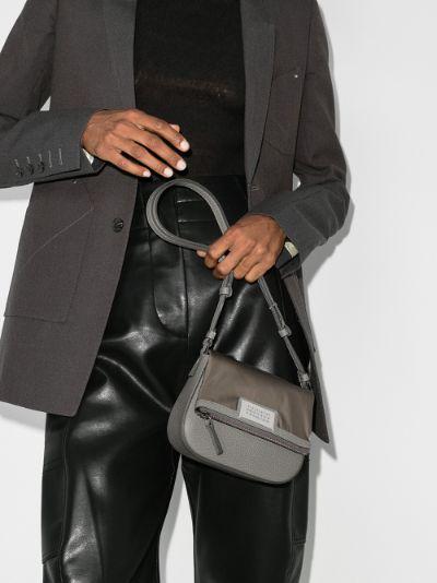 grey 5AC mini leather shoulder bag