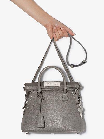 grey 5AC Pochette medium leather shoulder bag
