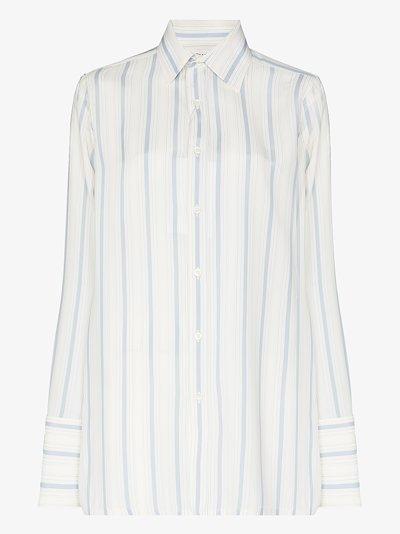 long-sleeved striped shirt