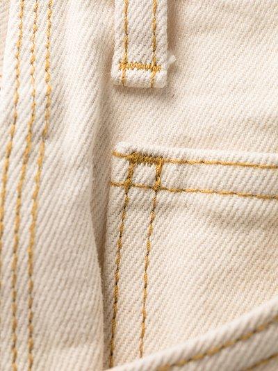 multi-pocket straight-leg trousers