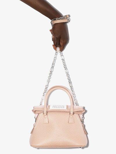 neutral 5AC mini leather top handle bag