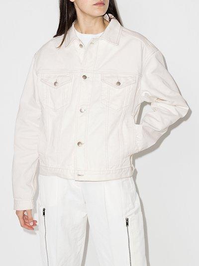 oversized buttoned denim jacket