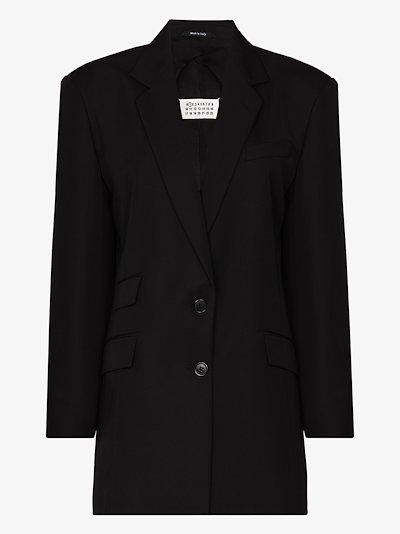 oversized embroidered blazer