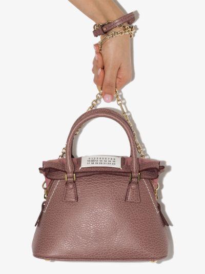 pink 5AC mini leather cross body bag
