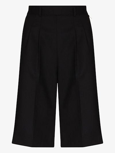 pleat detailing shorts