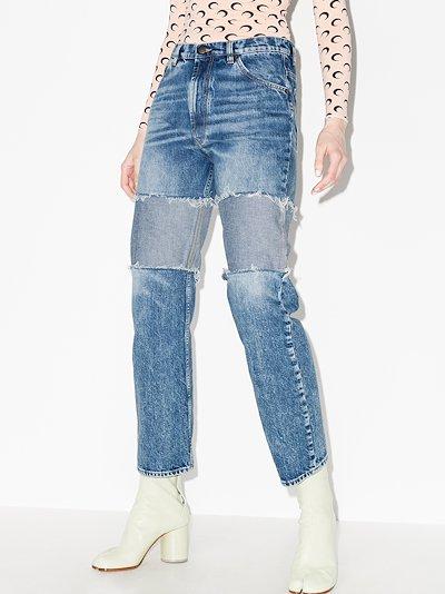reverse panel boyfriend jeans