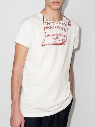 scroll print T-shirt