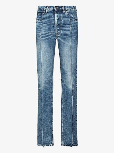 seam-detail high-rise jeans