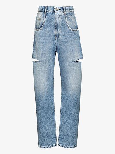 side slash jeans
