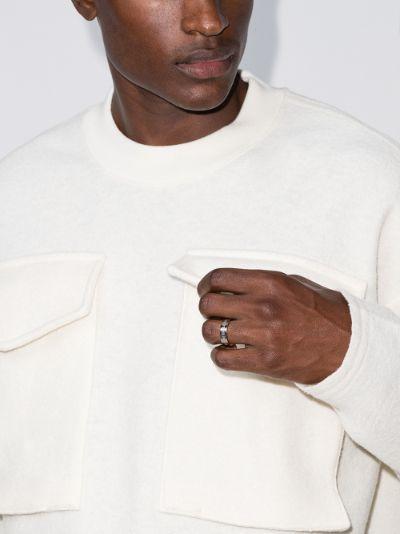 sterling silver number logo ring