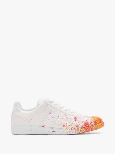 white Pollock Replica leather sneakers