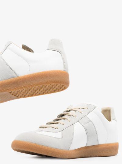 white Replica leather sneakers