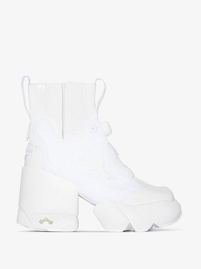 X Reebok white Tabi Instapump Fury Hi 110 ankle boots