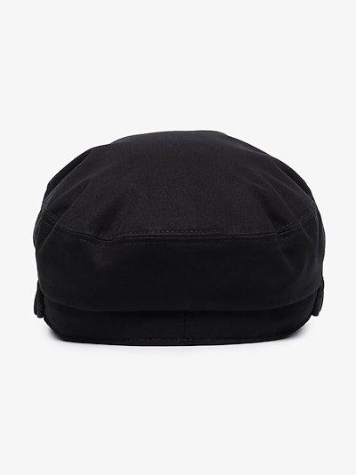 Black Abby baker boy hat