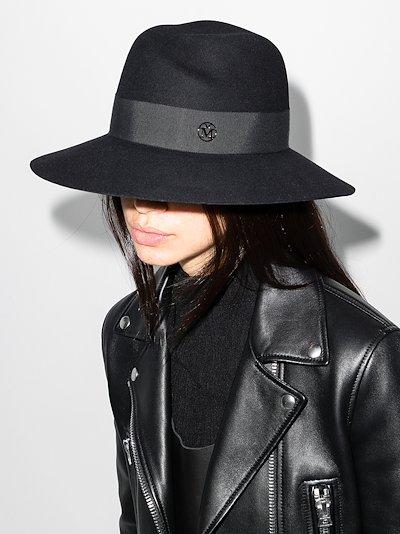 black Virginie Fedora hat