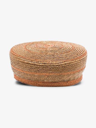 brown Abby straw baker boy hat
