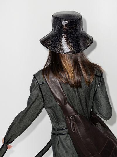 Brown Charlotte leopard print bucket hat