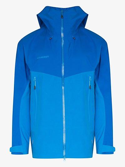 blue Crater hardshell hooded jacket