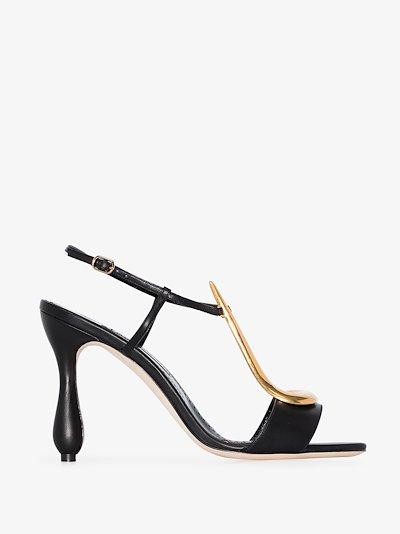 black Fulgencia 105 leather sandals