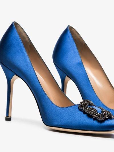 blue Hangisi 105 satin pumps