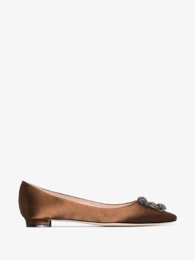 Brown Hangisi ballet pumps