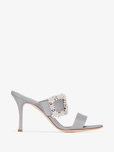 grey Gable Jewel 90 double strap sandals