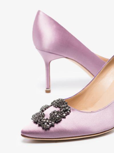 lilac Hangisi 70 satin pumps