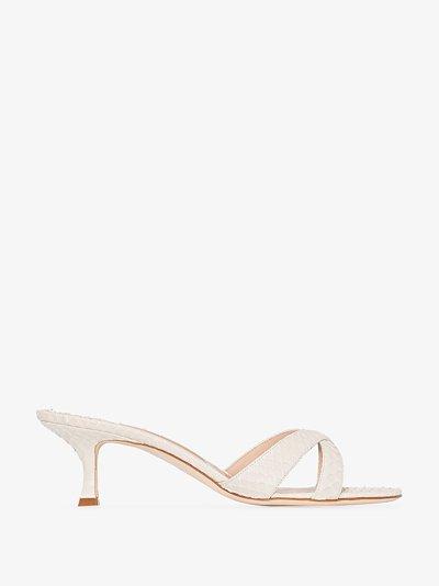 neutral Callamu 50 leather sandals