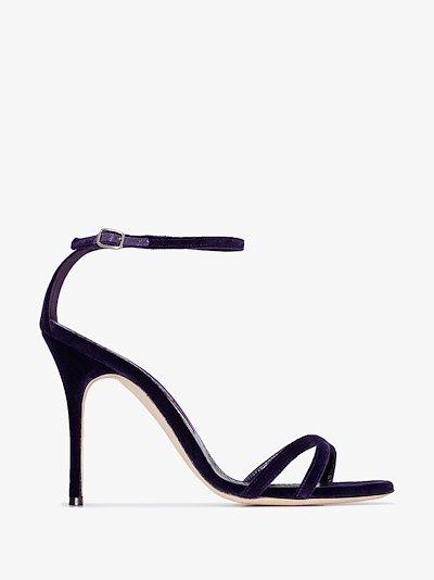 purple Paloma 105 velvet sandals