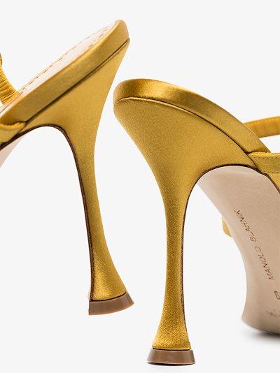 yellow Nudosa 105 crystal embellished sandals