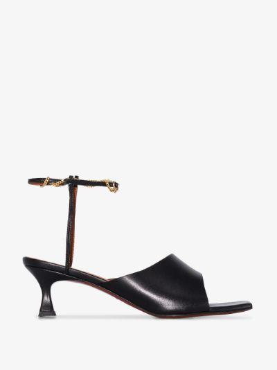 black Athena 50 leather sandals