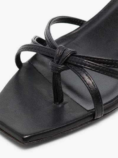 Black Lace 50 leather sandals