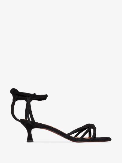 black Lace 50 suede sandals