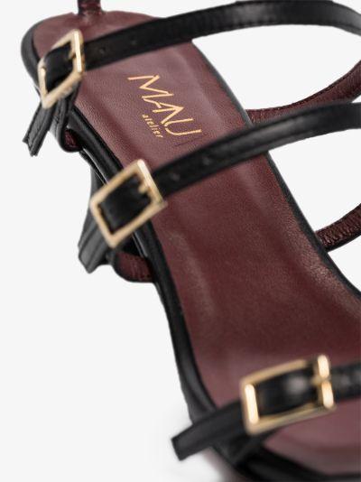 Black Naomi 50 leather sandals