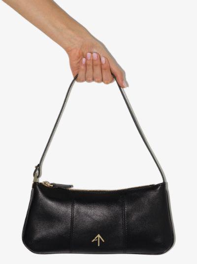 Black Pita baguette shoulder bag