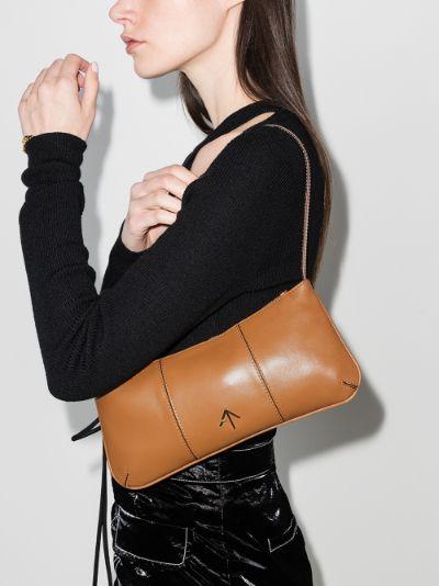 Brown Pita baguette shoulder bag