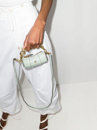 Green Micro Cylinder leather mini bag